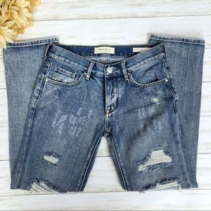 Pacsun Boyfriend Jeans Distressed Light Wash